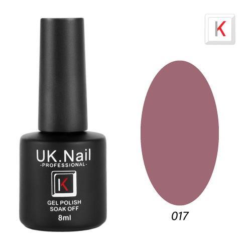 Гель-лаки  UK.Nail  8 мл, №17