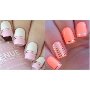 Цветная декоративная лента для дизайна ногтей 0,1мм, цвета в ассортименте