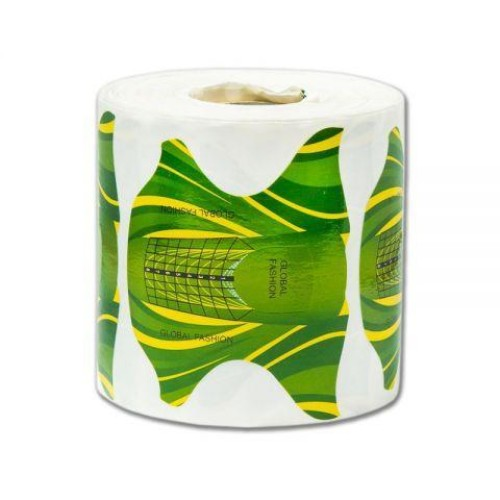 Форма для наращивания ногтей(желто-зеленые) 300 штук
