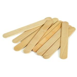Шпатель деревянный для работы з воском упаковка 100 шт