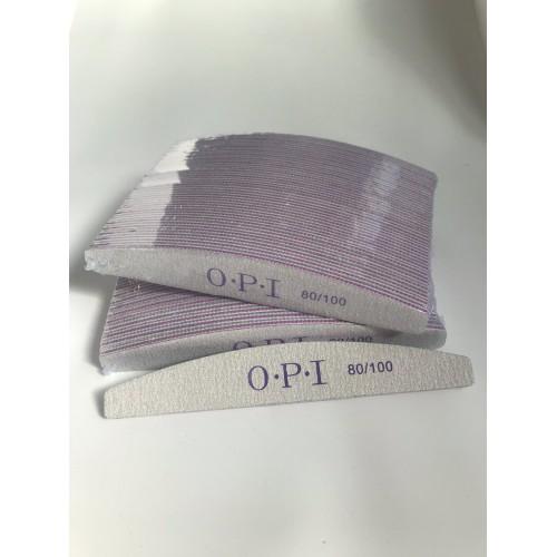 Пилка для ногтей OPI  полукруг 80/100, серая