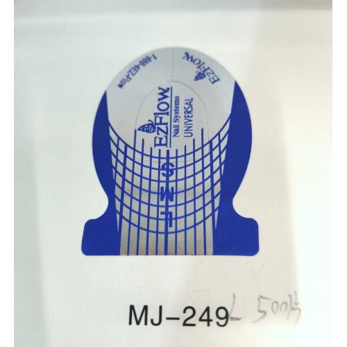 Форма для наращивания ногтей, голубая широкая на 500 штук