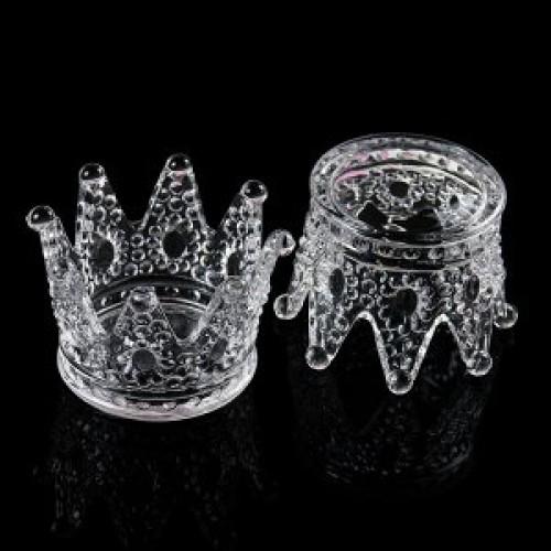Подставка для кистей корона стекло