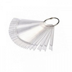 Палитра - веер для лака,на кольце прозрачнаяная 50 образцов