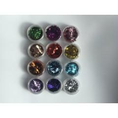 Набор ромбиков для дизайна ногтей, 12 шт цветные