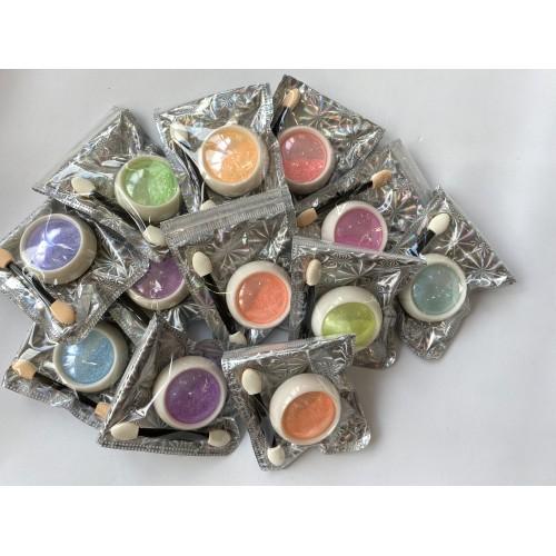 Втирка цветной жемчуг для дизайна ногтей , №01