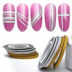 """Лента для дизайна ногтей """"Сахарная нить"""", 0,1 мм, серебро"""