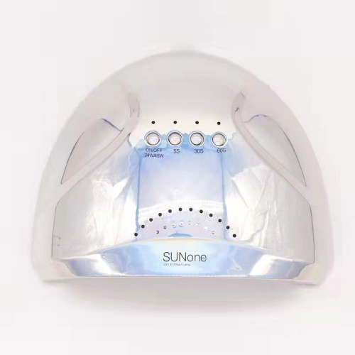 Гибридная лампа Sun One для сушки ногтей UV/LED 48w, зеркальная(цвет серебро).