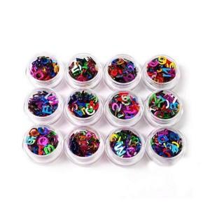 Набор для дизайна ногтей алфавит(цветные),12 шт в упаковке