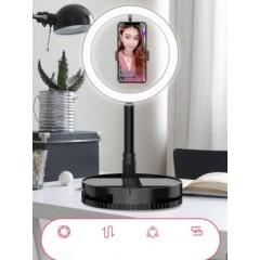 Кольцевая светодиодная лампа для блогеров G1 со складным штативом.