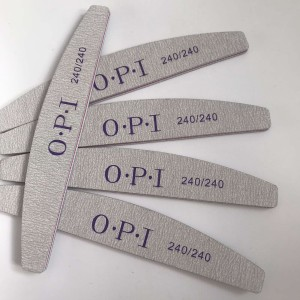 Пилка для ногтей OPI  полукруг 240/240, серая