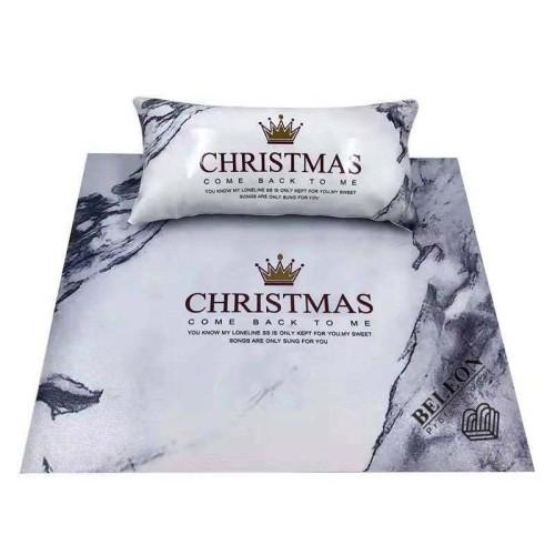 Подлокотник для маникюра с ковриком, с рисунками(Рождество)