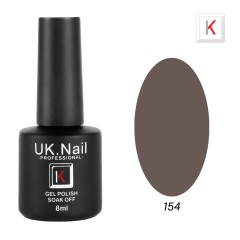 Гель-лаки  UK.Nail  8 мл, №154