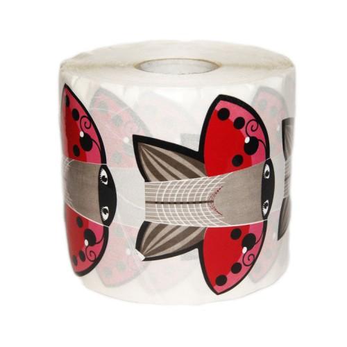 Форма для наращивания ногтей, широкая  красная бабочка на 500 штук.