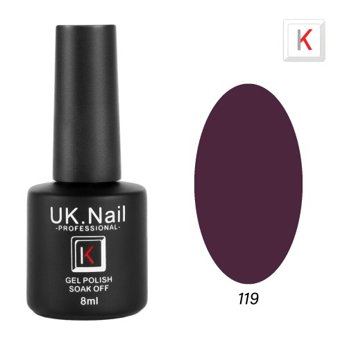 Гель-лаки  UK.Nail  8 мл, №119