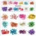 Набор сухоцветов в контейнере для декора ногтей.(цветы с листями)