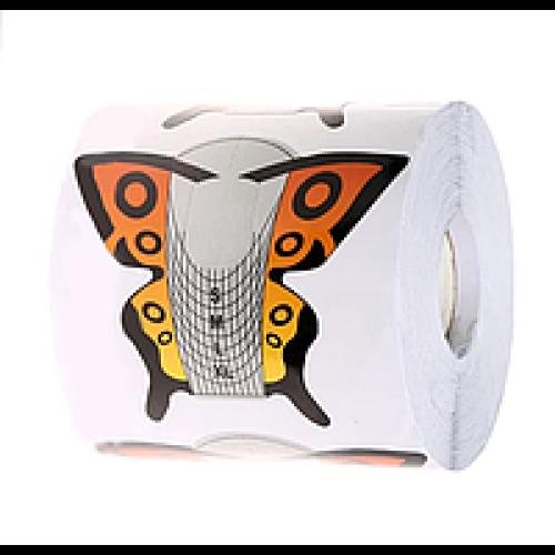 Форма для наращивания ногтей бабочка оранжевая 300 шт