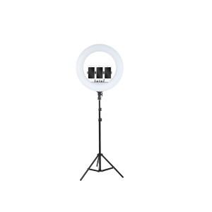 Кольцевая светодиодная  лампа для селфи на 3 держателя RL-18 45 вт