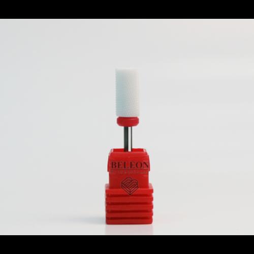 Насадка керамическая цилиндр с закруглением для снятия гель-лака(красная)