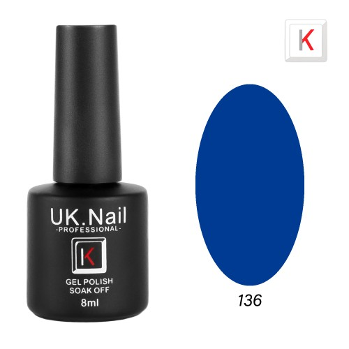 Гель-лаки  UK.Nail  8 мл, №136