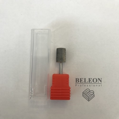 Насадка для маникюра,металическая красная цилиндр