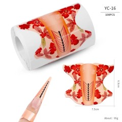 Форма для наращивания ногтей овальная(цветок) 300 штук в рулоне