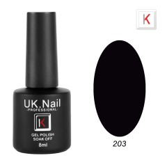 Гель-лаки  UK.Nail  8 мл, №203, черный