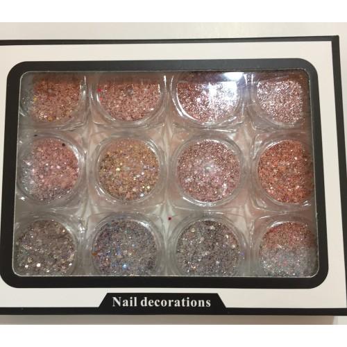 Набор декора для ногтей,микс мелкие конфети