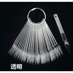 Палитра для лака прозрачная на кольце для лака(коготь)