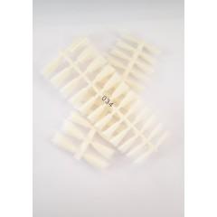 Типсы для ногтей в пластиковом контейнере матовые 240 штук