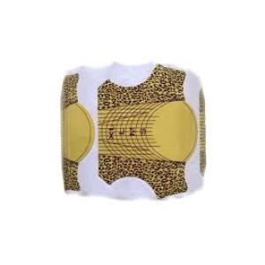Форма для наращивания ногтей золотая( леопард) 500 шт