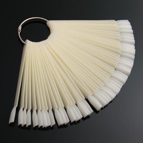 Палитра - веер для лака,на кольце матовая на 50 образцов