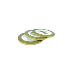 """Лента для дизайна ногтей """"Сахарная нить"""", 0,3 мм, цвета в ассортименте,золото"""