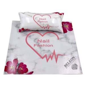 Подлокотник для маникюра с ковриком, с рисунками(Сердце)