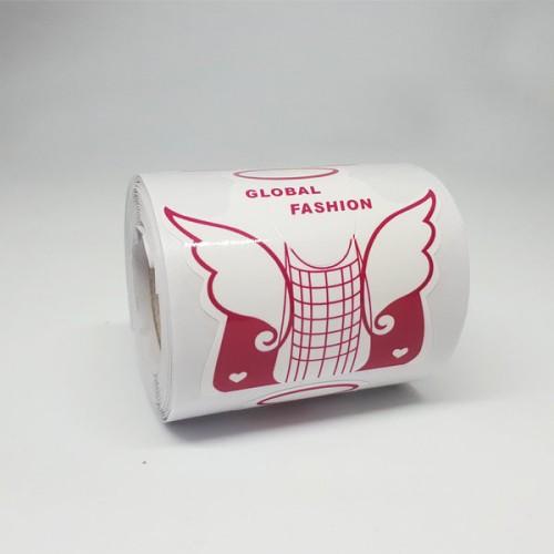 Форма для наращивания ногтей широкая(розовая )бабочка 300 шт