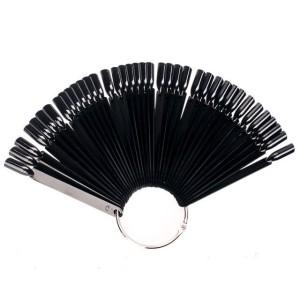 Веер на кольце - черный цвет (50 типсов)
