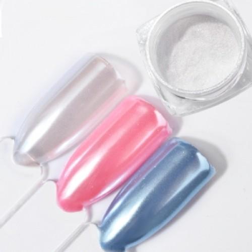 Втирка для дизайна ногтей ,цветной жемчуг