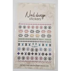 Наклейка для дизайна ногтей Бренды шт