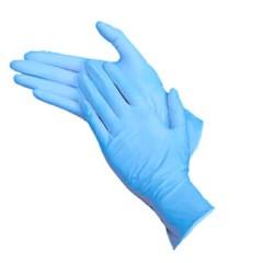 Перчатки нитрил винил Gloves  без пудры размер M ( 100 шт в упаковке)