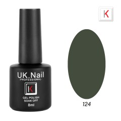 Гель-лаки  UK.Nail  8 мл, №124