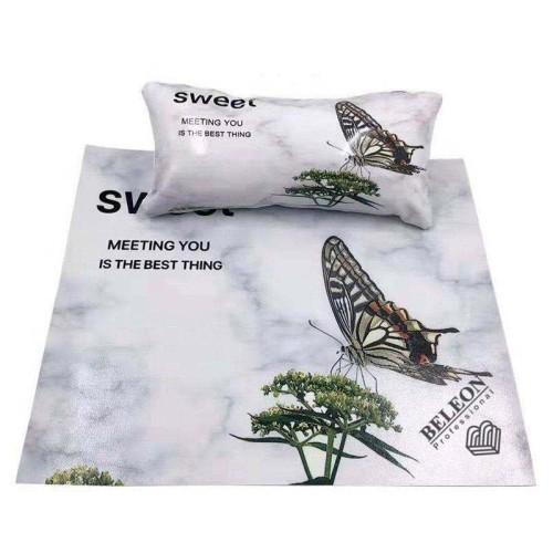 Подлокотник для маникюра с ковриком, с рисунками(Бабочка)