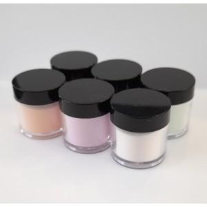 Акриловая пудра цветная для ногтей  12 шт в наборе, цвета в ассортименте