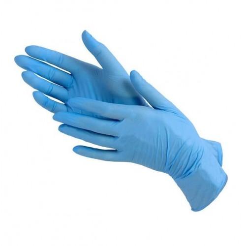 Перчатки нитрил винил Gloves  без пудры размер L ( 100 шт в упаковке)
