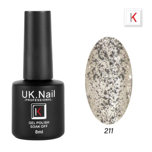 Гель-лаки  UK.Nail  8 мл, №211